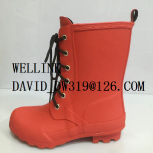 Fashion Ladies Rb Rainboot with Adjustable Strap