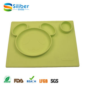 One-Piece Food Grade Silicone Infant Placemat Baby Feeding Placemat pictures & photos