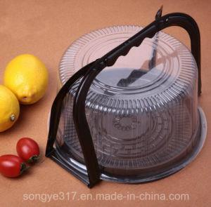 6 Inch Brown Bottom Portable Transparent Plastic Cake Box pictures & photos