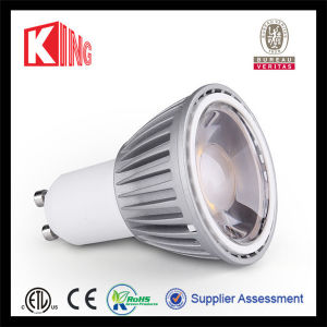 650lm CRI95 7W Dimmable COB GU10 LED Spot Light pictures & photos