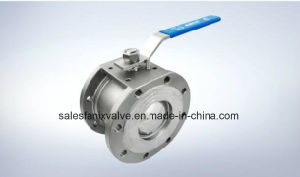 Wafer Type Flanged Ball Valve pictures & photos