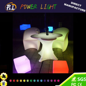 Rotational Moulding Plastic LED Furniture Bar Plum Blossom Table pictures & photos