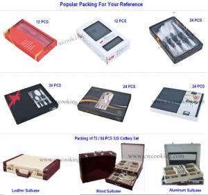 24PCS/72PCS/84PCS/86PCS High Class Stainless Steel Mirror Polish Tableware Flatware Cutlery Set (CW-C4011) pictures & photos