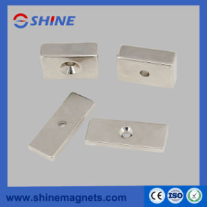 Neodymium Countersunk Magnet for Mechanical Equipment with Nickel Plated pictures & photos