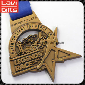 High Quality Custom Award Medal with Ribbons pictures & photos