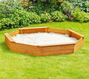 Children′s Octagonal Outdoor Playground Wooden Sandbox Sandpit