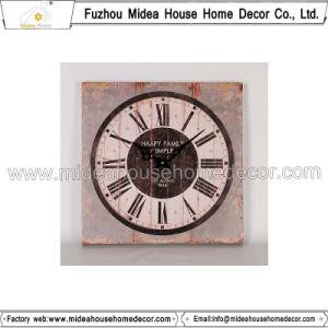 Square Shape Retro Wooden Clock pictures & photos