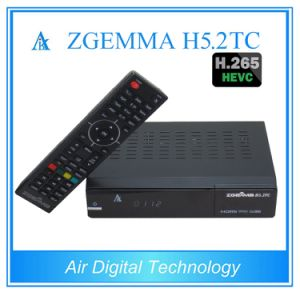 2017 New Best Sale Zgemma H5.2tc FTA Satellite/Cable Receiver Hevc/H. 265 DVB-S2+2*DVB-T2/C Twin Tuners at Factory Price pictures & photos
