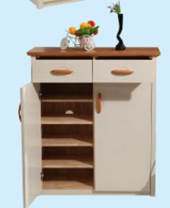 American Simple Solid Shoes Cabinet and Shoe-Changing Stool pictures & photos