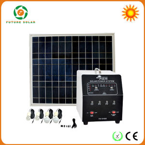 AC Solar Electricity Charge System with Freezer, TV