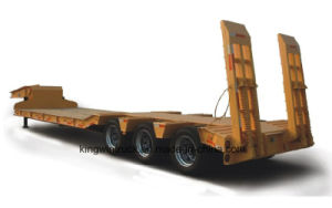 China Cimc Brand Three Axles Low Bed Semi Trailer pictures & photos