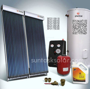 Split Solar Water Heater System with Solar Keymark (SFCY-500-60) pictures & photos