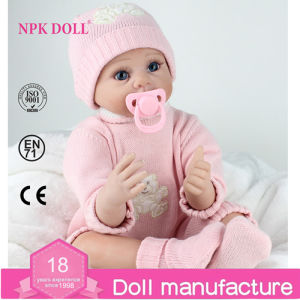 Npkdoll Silicone Reborn Baby Doll Newborn Dolls Real Like Baby Doll Soft Toys Lifelike Baby Dolls