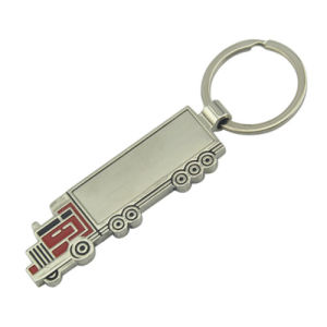 Promotional Customized Zinc Alloy Car Keychain with Color (F1061)