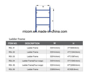 Powder Coated Scaffolding Ladders for Construction pictures & photos