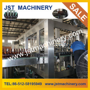 Three in One Automatic Glass Bottle Beer Filling Machine for 3000 Bottles Per Hour pictures & photos