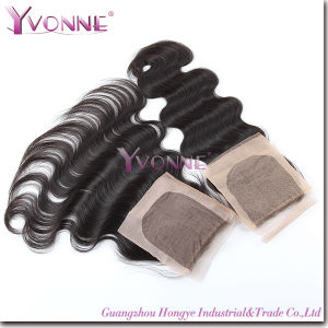 Brazilian Hair Silk Base Closure Body Wave 100% Remy Human Hair pictures & photos