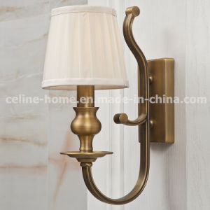 Hot Sale Iron Wall Light with Fabric Shade (SL2091-1W) pictures & photos