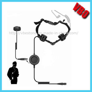 High Quality Throat Mic Walkie Talkie Two Way Radio Headset (VB-201) pictures & photos