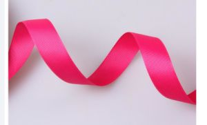 China Facroty Satin Material Hot Sale Custom Woven Ribbon pictures & photos