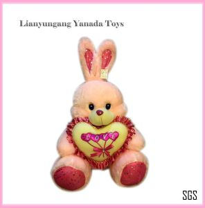 2014 Hot Lovely Plush Stuffed Soft Heart Rabbit Bunny Toy