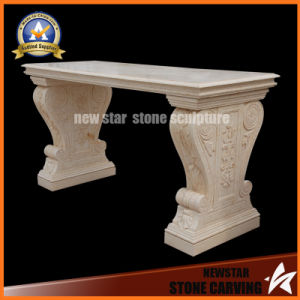 Beige Marble Bench Leisure Chari pictures & photos