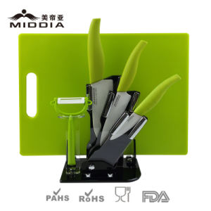 Kitchenware Ceramic Kitchen Knife Block Set with Chopping Board pictures & photos
