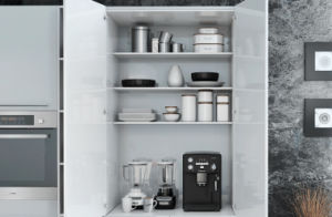 PVC Vinyl Wrap Kitchen Cabinet Door (zc-027) pictures & photos