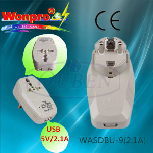 2.1A USB Travel Charger with Universal Socket pictures & photos