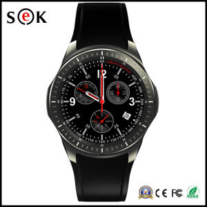 "1.39"" Amoled Display Quad Core Bluetooth 4.0 Android Smart Watch Cell Phone pictures & photos"