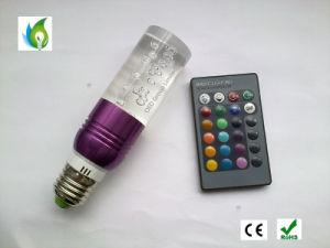 LED Colour Change E27 E14 GU10 B22 3W RGB LED Lights AC 85-265V 16 Colors Change Crystal LED Bulbs Light with 24 Keys Remote Control pictures & photos