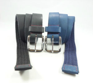 Newly-Designed Elastic Weaving Leather Belt pictures & photos