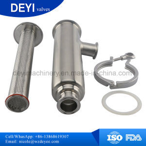 Dn50 SS304 Stainless Steel Sanitary Clamp Straight Filter Strainers pictures & photos