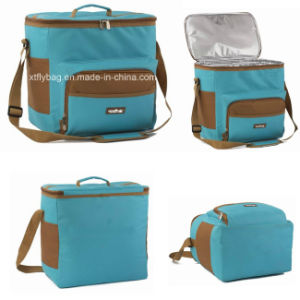 Polyester Cooler Bag with Side Pocket for Frozen Food, Beverage&Wine pictures & photos