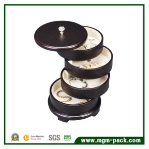 Round Shape Wooden Jewelry Storage Box pictures & photos
