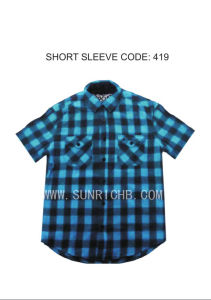 Short Sleeve Check Shirt (419) pictures & photos
