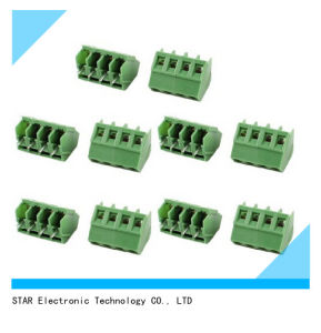 4 Pin 5mm 7.62mm Pitch 300V 10A PCB Green Terminal Block pictures & photos
