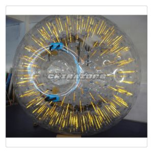 Top Quality PVC/TPU Yellow Color Shining Inflatable Zorb Ball