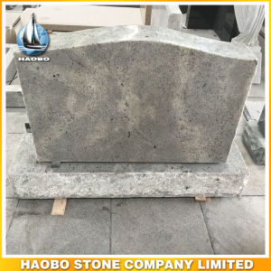 American Style Granite Upright Gravestone and Headstone Serp Top pictures & photos