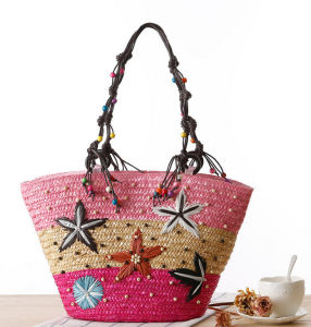 Wholesale New Design Natural Straw Women Lady Travelling Beach Bags pictures & photos
