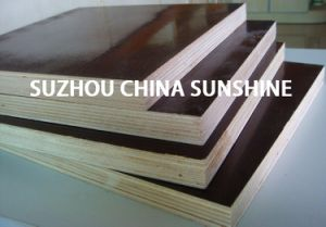 Film Faced Plywoodmanufacturer /Marine Plywood/Waterproof Plywood/18mm Construction Plywood pictures & photos