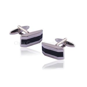 Personalized Silver Wedding Cufflinks for Men pictures & photos