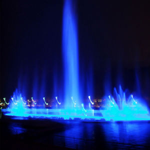 Super High Jet Fountain Outdoor Pond Fountain with Colorful Lights