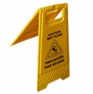 Foldable Caution Wet Floor Sign Plastic Safety A Shape Traffic Warning Sign pictures & photos