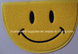 Anti-Slip PVC Coil Door Mat with Thin Silk Unfoam Backing pictures & photos
