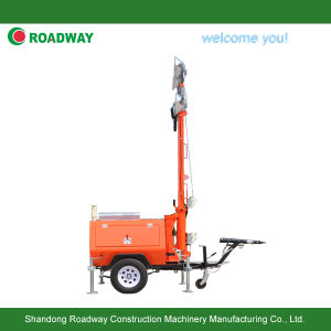 Roadway 9m Mast Trailer Mobile Light Tower, Generator Ligtht Tower, Lighting Tower, Outdoor Light pictures & photos