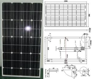 18V 130W Monocrystalline Solar Panel PV Module with TUV ISO Certificate pictures & photos
