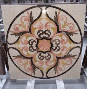 CNC Tiles Waterjet Medallion Marble Floor Tiles pictures & photos