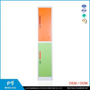 Luoyang Mingxiu Steel Cabinet Clothes Locker / 2 Door Metal Storage Cabinet pictures & photos