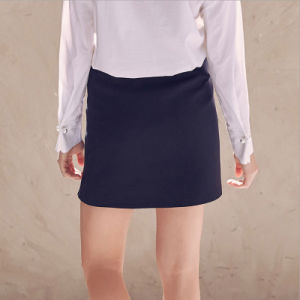 Single Breasted Button Pencil A-Line Short Skirt with Side Split pictures & photos